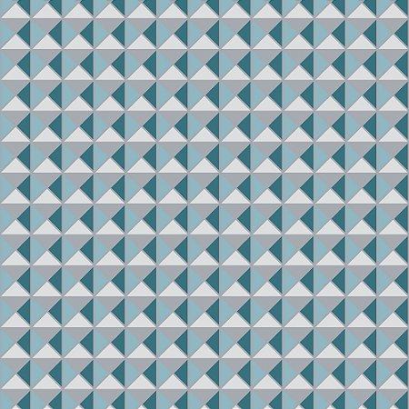 Papel De Parede Winster - Losango 2D Azul e Cinza - ST-M-942