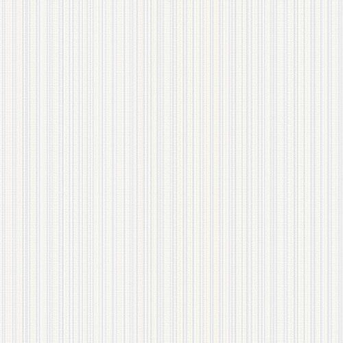 Papel de Parede Listrado Creme e Cinza - CW8433