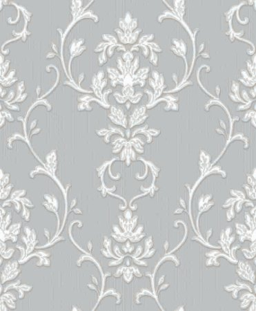 Papel de parede Florence -Flor Arabesco - Bege Creme e Branco - FR87243