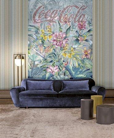 Painel Papel de Parede - Floral Coca-Cola - 2x3 - Z41283
