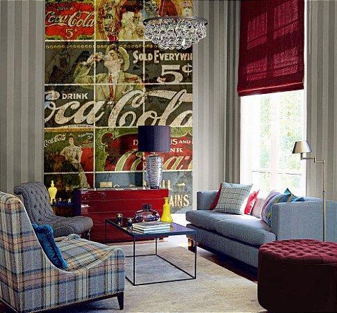 Painel Papel de Parede - Quadriculado Coca-Cola - 2x3 - Z41285