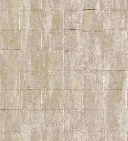 Papel de Parede - Textur Quadriculado Marfim e Verde Claro Coca-Cola - Z41247