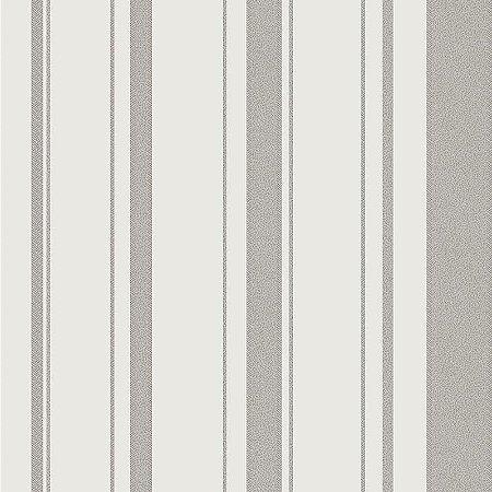 Papel De Parede Listrado Marfim Com Cinza - HD1862