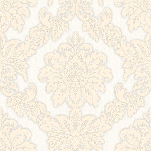 Papel De Parede Brasão Arabesco Areia e Dourado - HD1875