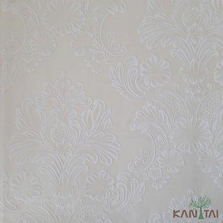 Papel de Parede Grace 3 Brasão Arabesco Branco E Marfim - 3G201505R