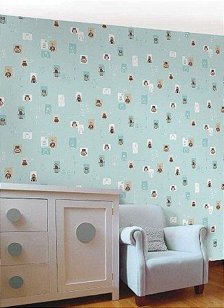 Papel de parede Nido Infantil 8708-1 Robos