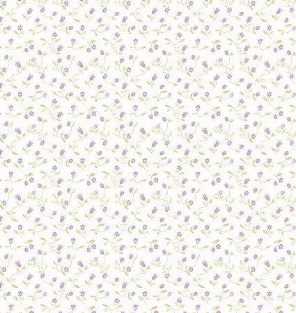 Papel de parede Nido Infantil 8706-2 flores lilas