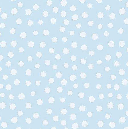 Papel de parede Nido Infantil 8704-1 Bolas Azul Celeste Claro