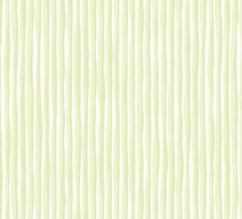 Papel de parede Nido Infantil 8707-2 Listrado Verde Claro