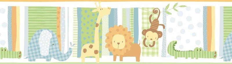 Papel de parede Borda Nido Infantil 8755-1 Animais Coloridos