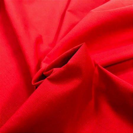 Tecido Tricoline Vermelho liso 100% Algodão com 1,50 metros de largura - 1672