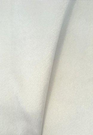 Tecido veludo Branco - Rubi 01