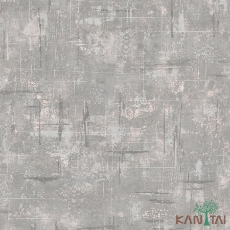 Papel de Parede Vision Creme com Cinza Mesclado - VI800906R