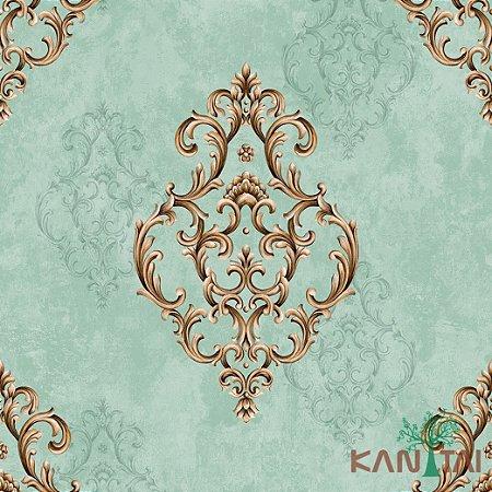 Papel de Parede Golden House 2 Medalhão - Tiffany - GH262304R