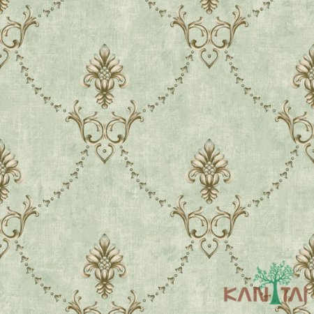 Papel de Parede Golden House 2 Gradil Arabesco - Verde Bebe - GH262603R