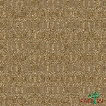 Papel de Parede Glamour Areia  Forma Geométrica Marrom Claro  - GL922541R