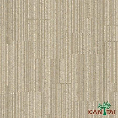 Papel de Parede Glamour Recortes Listras Marrom Claro e Branco - GL922594R