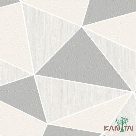 Papel de Parede Oba, Geométrico Chumbo, Cinza e creme - OB71106U