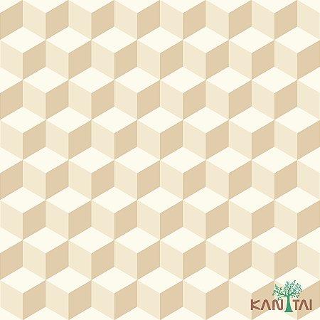 Papel de Parede Oba, Cubos em 2D creme - OB71201R