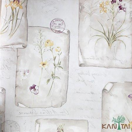 Papel de Parede Sydney 2, Cartazes Flores Amarelas e Textos  - SY120010R