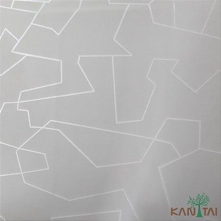 Papel De Parede Sydney 2, Geometria Abstrata prata Fundo Cinza - SY121030R