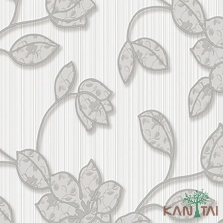 Papel de Parede Element 3 Floral Cinza Fundo Off White - 3E303101R