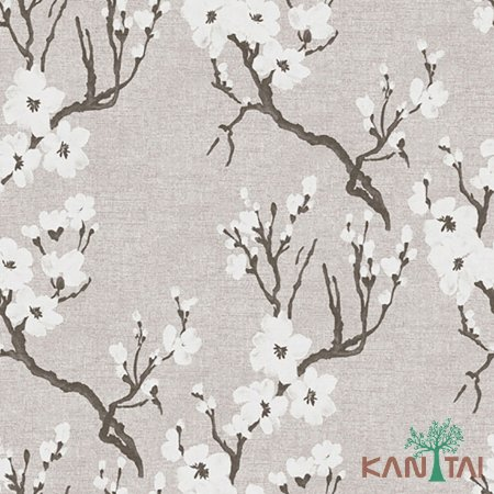 Papel de Parede Element 3 Sakura branca FundoBranco - 3E304002R