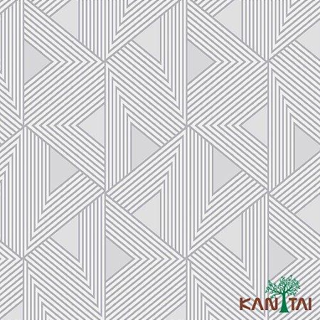 Papel de Parede Milan Fomas geométricas Cinza e Branco e Chumbo -  ML980306R