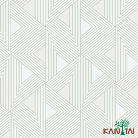 Papel de Parede Milan Fomas geométricas Branco, Bege e Cinza -  ML980307R