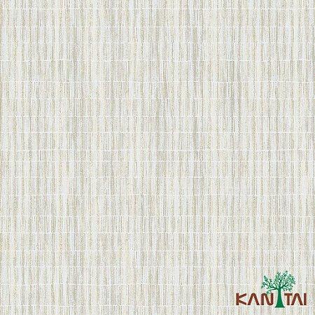 Papel de Parede Milan Aspecto Rede Branco Traços Branco e Bege - ML981204R