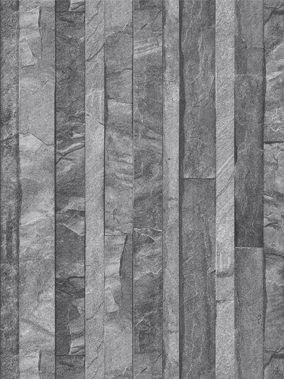 Papel de parede Pedras em Preto e Cinza -  J867-09