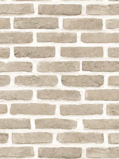 Papel de parede Tijolos em Areia e Creme - J666-07