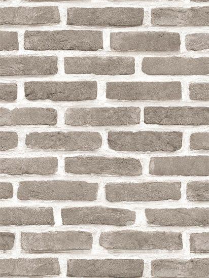 Papel de parede Tijolos em Cinza e Creme - J666-18