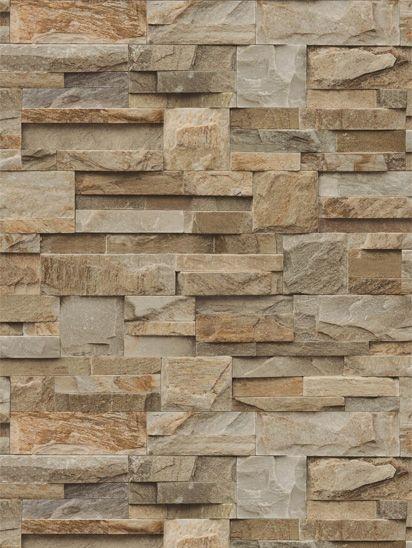 Papel de parede Predas Granitos em Marrom, Cinza e Ocre - J184-27