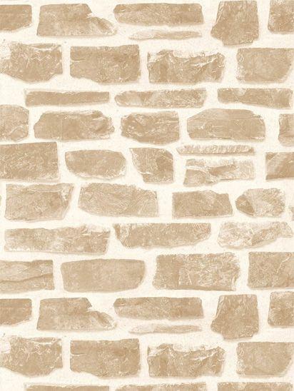 Papel de parede tijolos rustico bege escuro e creme roll for Papel de pared rustico