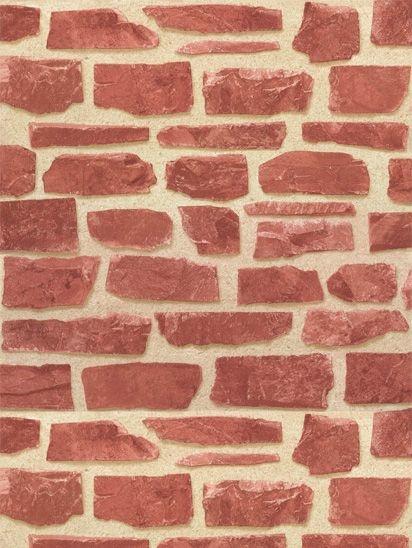 Papel de parede Tijolos Rustico Terra e Creme - AB003305