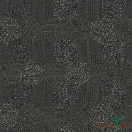 Papel de Parede Milan 2 Hexágono Preto - ML983004R