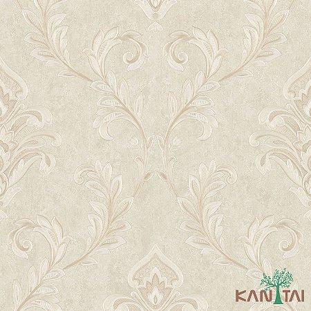 Papel de Parede Poert Chart, Arabesco Marfim - PT970905R