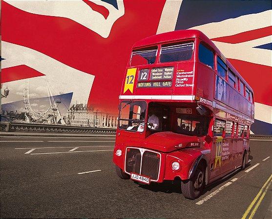 Painel fotográfico Bus England Importado e Vinílico com 3,15 metros x 2,32 metros