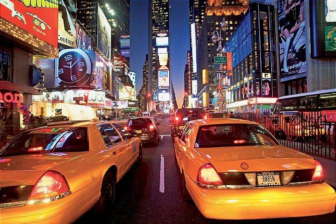 Painel fotográfico Times Square  Importado e Vinílico com 3,15 metros x 2,32 metros