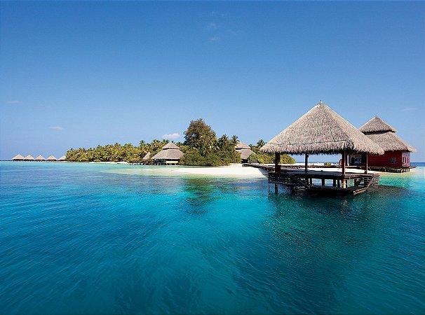 Painel fotográfico Ilhas Mauricio  Importado e Vinílico com 3,15 metros x 2,32 metros