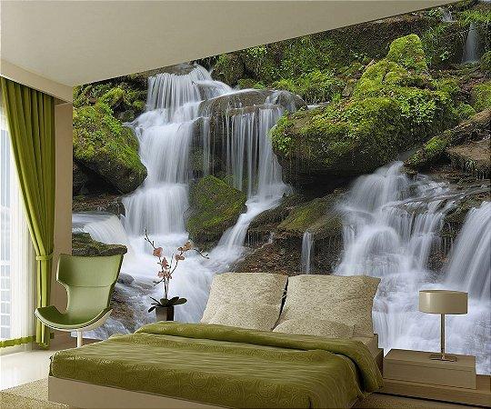 Painel fotográfico Cachoeira Retro Importado e Vinílico com 3,15 metros x 2,32 metros