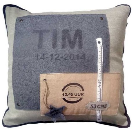 Capa para almofada TIM 40 x 40 cm, 100% Algodão