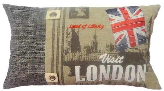 Capa para almofada Visit London  50 x 30 cm, 100% Algodão