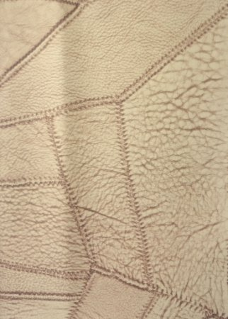 Tecido courvin costurado Bege claro e Marrom - 01