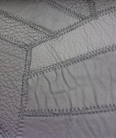 Tecido courvin costurado Preto - 10