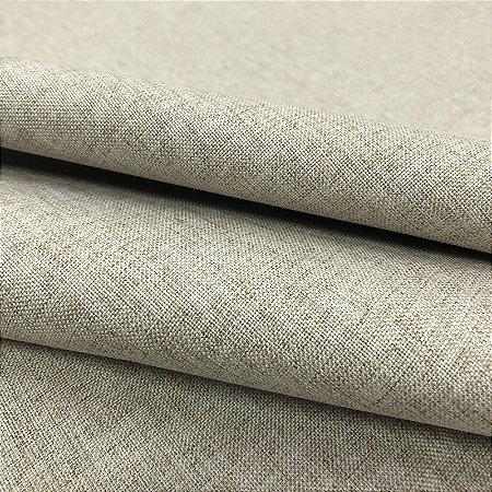 Tecido Blecaute Linho Rustico Bege Veda 100% Linen Look 2,80 de largura - 1Metro