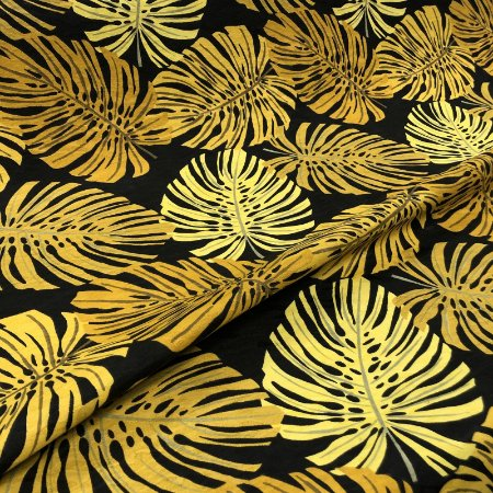 Tecido Para Moveis, Capa, Toalha de Mesa e Parede Estampado Jacquard Costela De Adão Mostarda