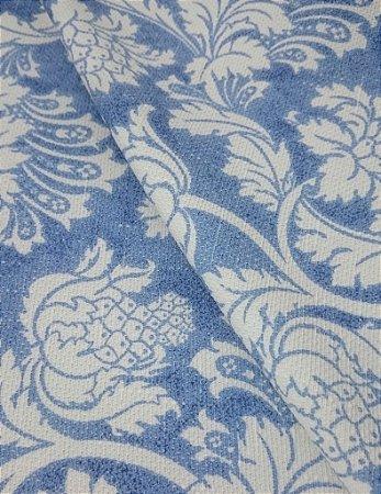 Tecido algodão impermeabilizado Linhão Floral Azul Sev 35