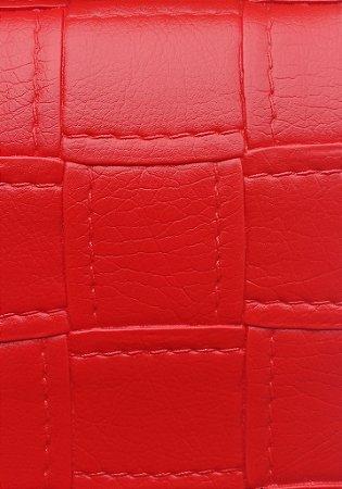 Tecido courvin estilo costurado Vermelho - Jade03